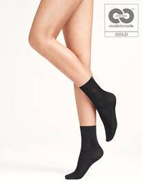 Wolford Louise Calcetines para mujer color gris antracita